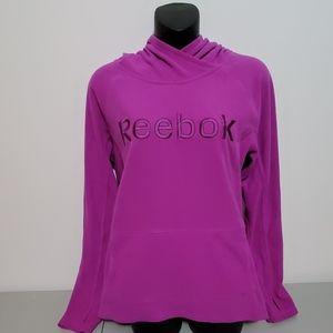 Purple Reebok fleece Medium hoodie